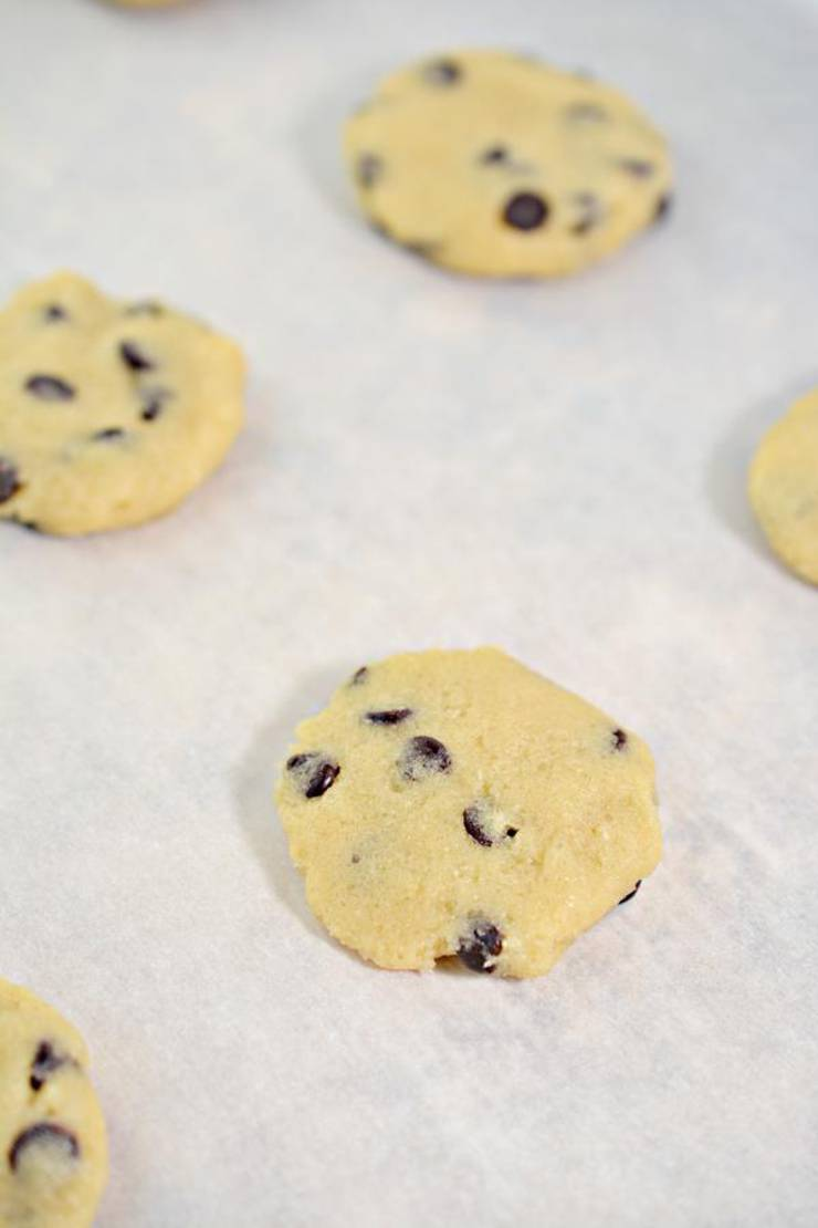 Keto Cake Mix Chocolate Chip Cookies