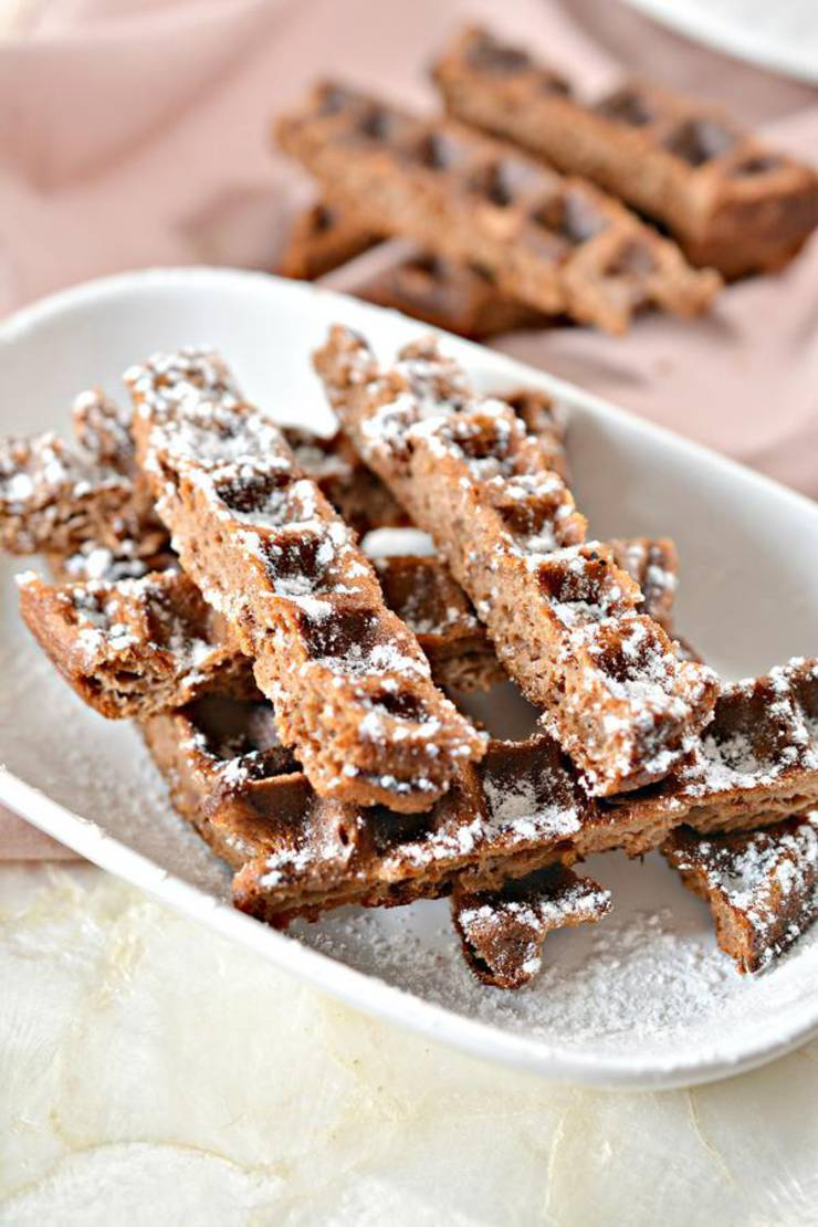 BEST Keto Chaffles! Low Carb Brownie Fries Chaffle Idea – Homemade – Quick & Easy Ketogenic Diet Recipe – Beginner Keto Friendly – Snacks – Desserts - Breakfast
