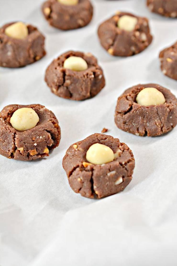 Keto Chocolate Peanut Butter Macadamia Nut Cookies
