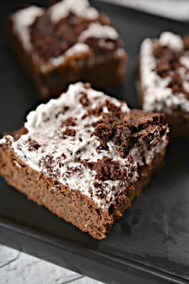 BEST Keto Brownies! Low Carb Cookies And Cream Brownie