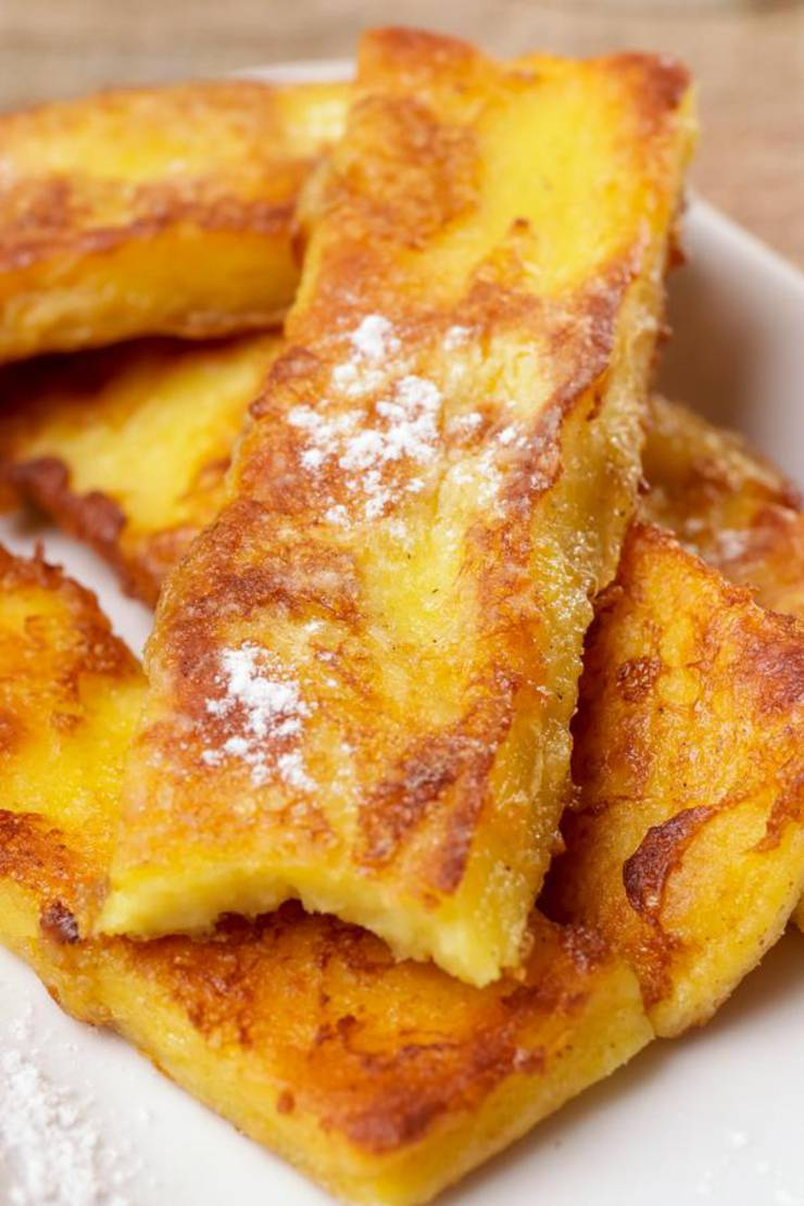 BEST Keto French Toast Sticks – Low Carb Keto French Toast Recipe – 90 Second Microwave Bread For Easy Ketogenic Diet French Toast