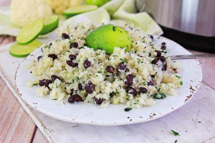 Keto Instant Pot Cauliflower Rice! Low Carb Instant Pot Cauliflower Cilantro Lime Rice & Beans – Ketogenic Diet Recipe – Appetizer – Side Dish – Lunch – Dinner – Completely Keto Friendly & Beginner