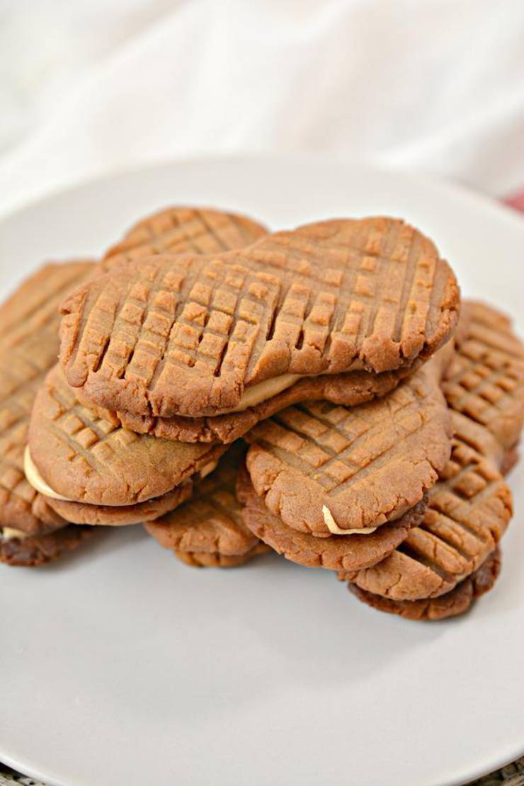 Keto Cookies – Super Yummy Low Carb Copycat Nutter Butter Peanut Butter Cookie Recipe For Ketogenic Diet – Keto Friendly & Beginner – Desserts – Snacks