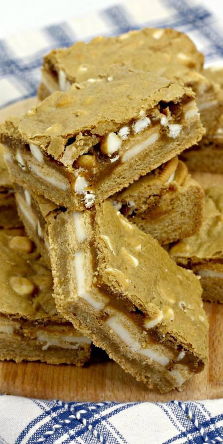 Kids Party Food! BEST Blondie Oreo Cookie Brownies Recipe – Easy – Cheap Ideas – Simple Desserts – Snacks – Kids Parties – Slumber Party Food