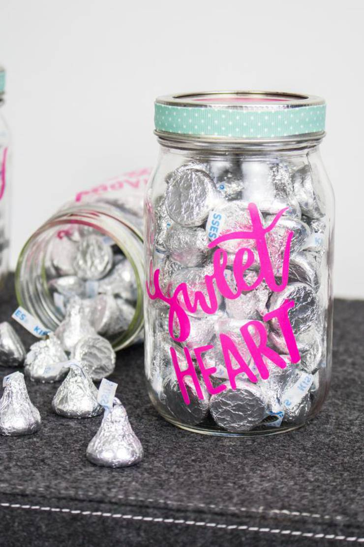 Cricut Crafts Best Valentine Cricut Craft Project You Will Love Easy Candy Mason Jar Diy Cricut Idea With Free Svg File