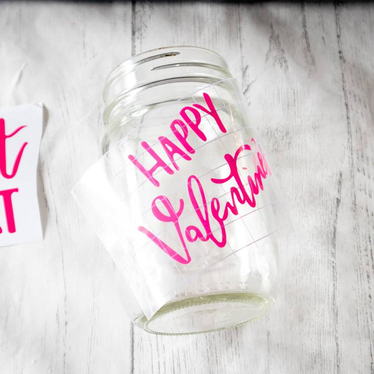 Valentine Craft - Cricut Candy Mason Jars