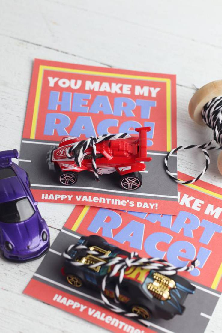 BEST Valentines For Kids | Free Printable Valentine | EASY DIY Hot Wheel Race Car Valentines For School – Classroom – Non Candy Valentines