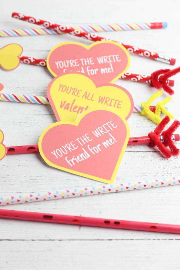 BEST Valentines For Kids | Free Printable Valentine | EASY DIY Pencil Valentines For School – Classroom – Non Candy Valentines