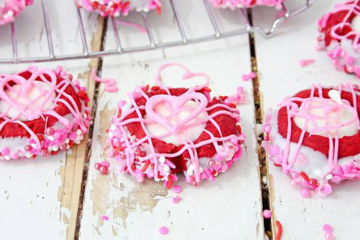Valentines Thumbprint Cookies