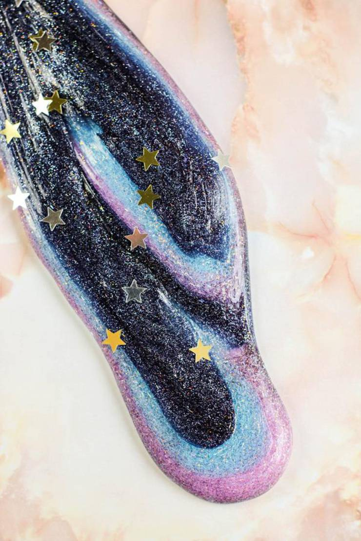 DIY Galaxy Slime – How To Make Galaxy Slime – Space Slime Recipe - Easy & Fun Recipe For Kids – Glitter – Swirls – BEST Slime – Great Party Favors