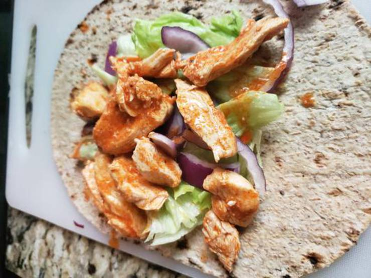 Instant Pot Buffalo Chicken Wrap