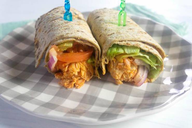 BEST Instant Pot Recipe! Easy Instant Pot Buffalo Chicken Wrap Idea – Tasty – Homemade – Simple Comfort Food – Quick Dinner Family – Kids – Parties