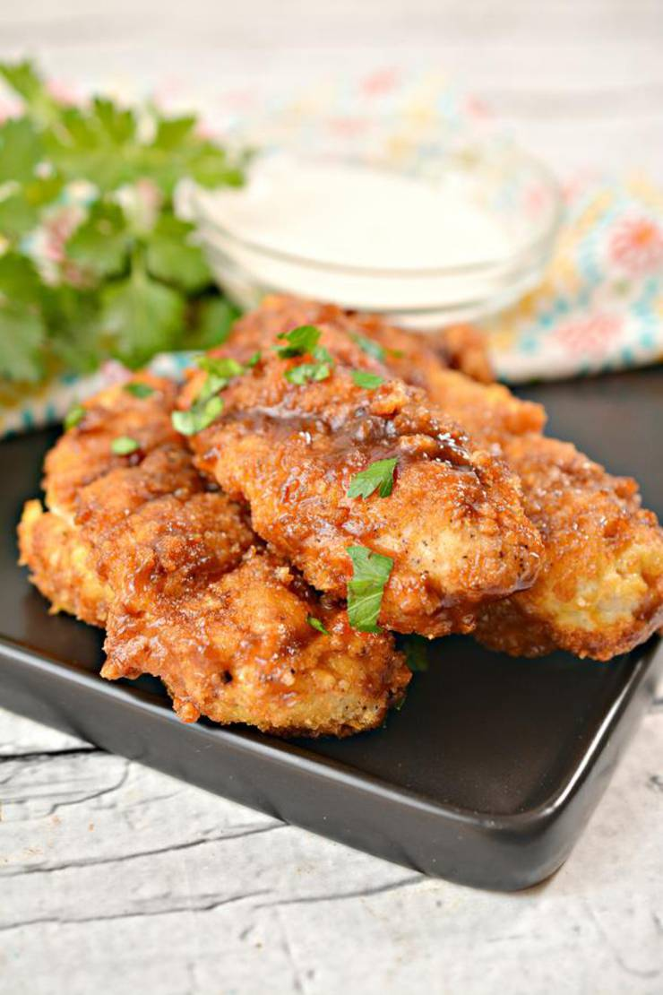 Keto Chicken Tenders Easy Low Carb Air Fried Bbq Brown Sugar