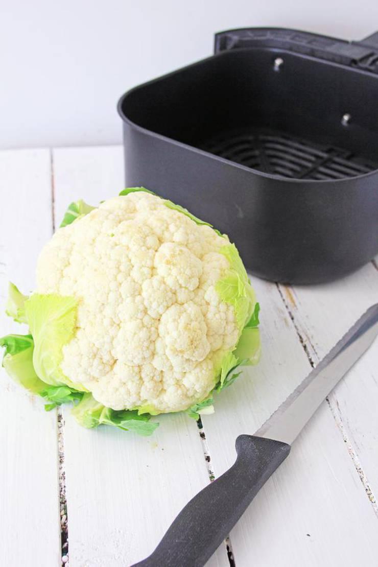 Keto Air Fryer Buffalo Cauliflower