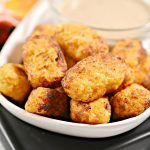 Keto Cauliflower Tots – BEST Low Carb Keto Air Fryer Cauliflower Tots Recipe – Easy – Gluten Free – Snacks – Appetizers – Side Dish