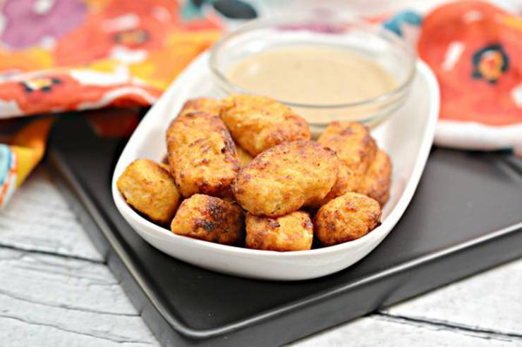 Keto Air Fryer Cauliflower Tots