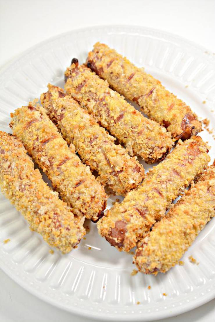 Keto Air Fryer Cheesy Corn Dogs