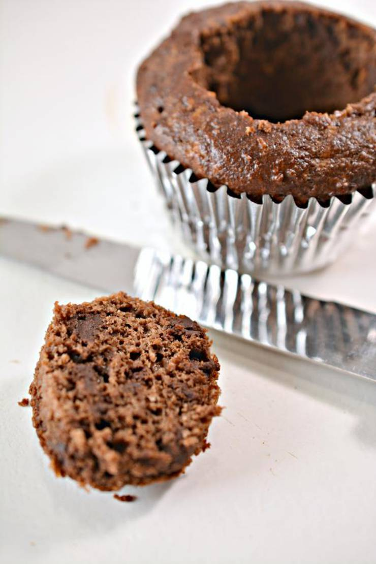 Keto Chaffle Chocolate Snickers Muffins