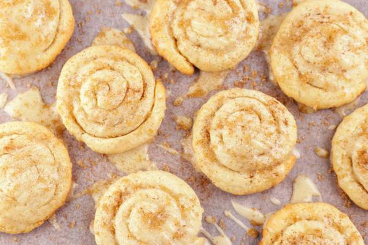 BEST Keto Cinnamon Roll Cookies! Low Carb Fathead Dough Mini Cinnamon Roll Idea – Quick & Easy Ketogenic Diet Recipe – Beginner Keto Friendly – Snacks – Desserts – Breakfast