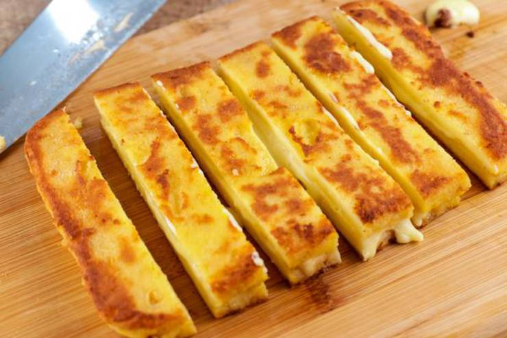 Keto Grilled Cheese Sticks