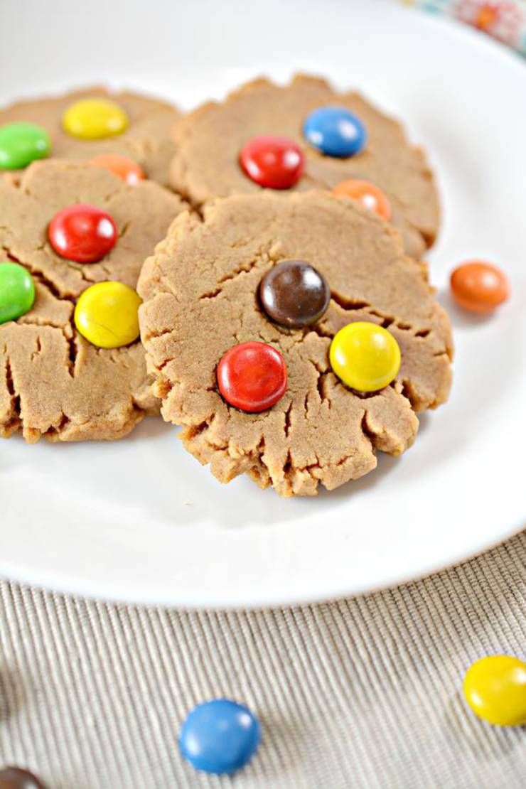 BEST Keto Cookies! Low Carb 5 Ingredient Peanut Butter M & M Candy Cookie Idea – Quick & Easy Ketogenic Diet Recipe – Completely Keto Friendly