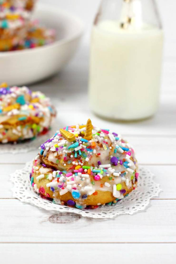 Kids Party Food! BEST Unicorn Cinnamon Rolls – EASY Unicorn Party Food Ideas – Recipes