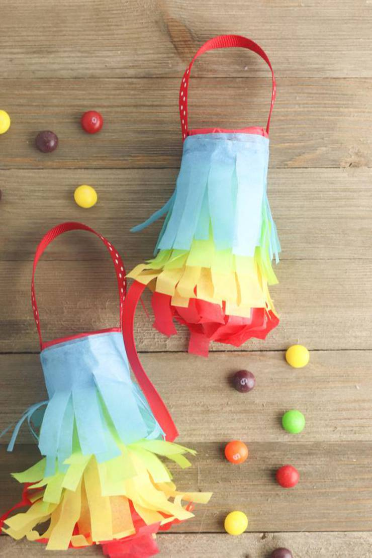 DIY Toilet Paper Roll Crafts – Toilet Paper Roll Pinata – FUN Children Crafts – Easy – Cheap – Fun