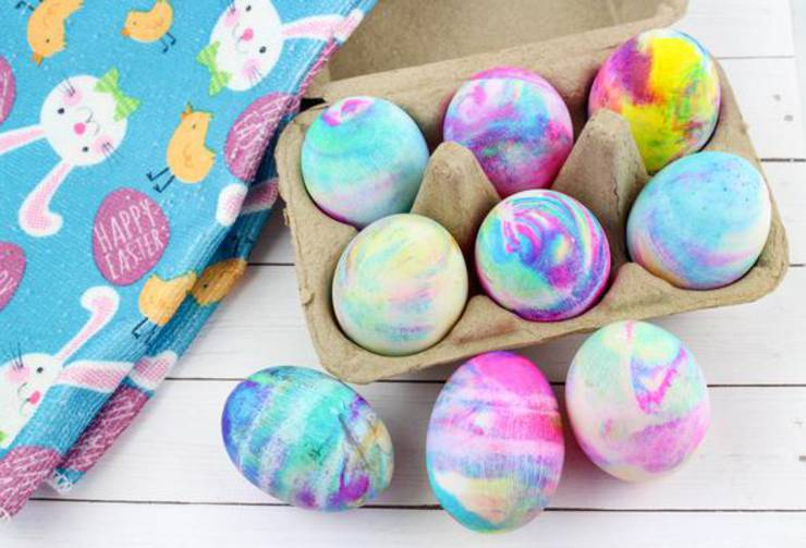 BEST Dyed Easter Eggs! How To Tie Dye Easter Eggs With Cool Whip – EASY DIY Easter Egg Decorating Ideas Kids Will Love
