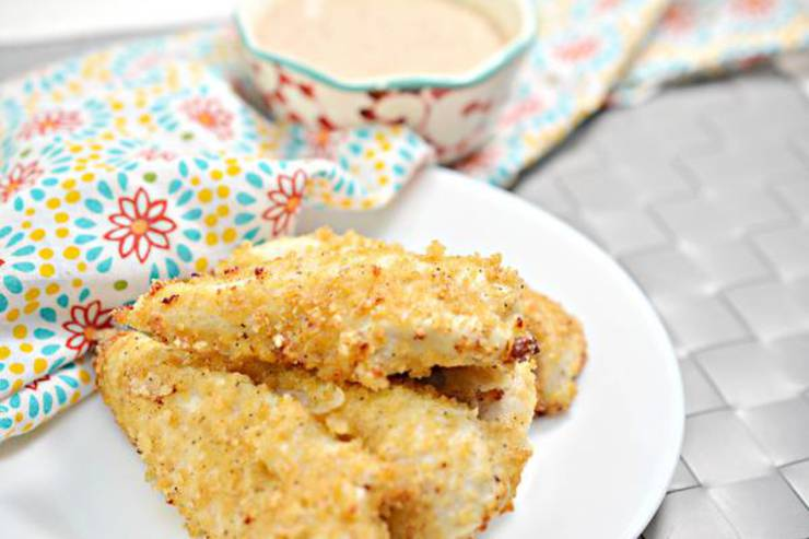 Keto Chicken Tenders – EASY Low Carb Air Fried Copycat Chick Fil A Chicken Strips Recipe – With Copycat Dipping Sauce – BEST Dinner – Lunch – Appetizer Idea
