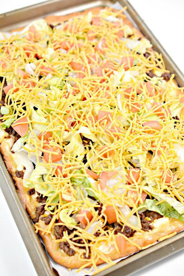 Keto Pizza! Low Carb Taco Pizza Sheet Pan – Ketogenic Diet Recipe – Appetizers – Side Dish – Lunch – Dinner – Completely Keto Friendly & Beginner