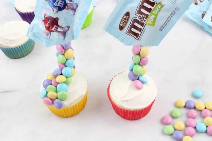 Party Food Gravity M And M Cupcakes