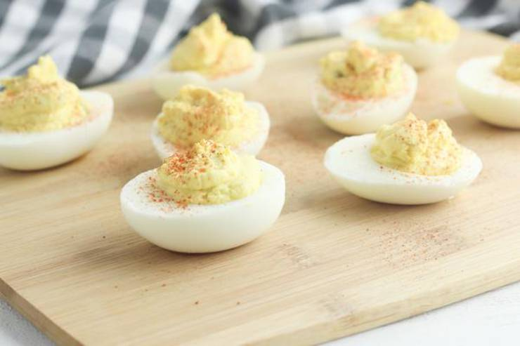 Weight Watchers Deviled Eggs– EASY Weight Watchers Greek Yogurt Deviled Eggs Recipe – BEST Appetizer – Snack or Parties Dip Idea
