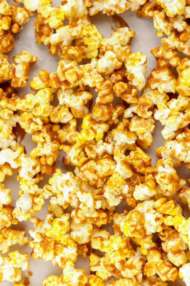 Caramel Popcorn – EASY – Quick – Simple Caramel Popcorn Recipe – BEST Homemade Microwave Caramel Popcorn – How To Make – Quick – Desserts – Snacks – Party Food
