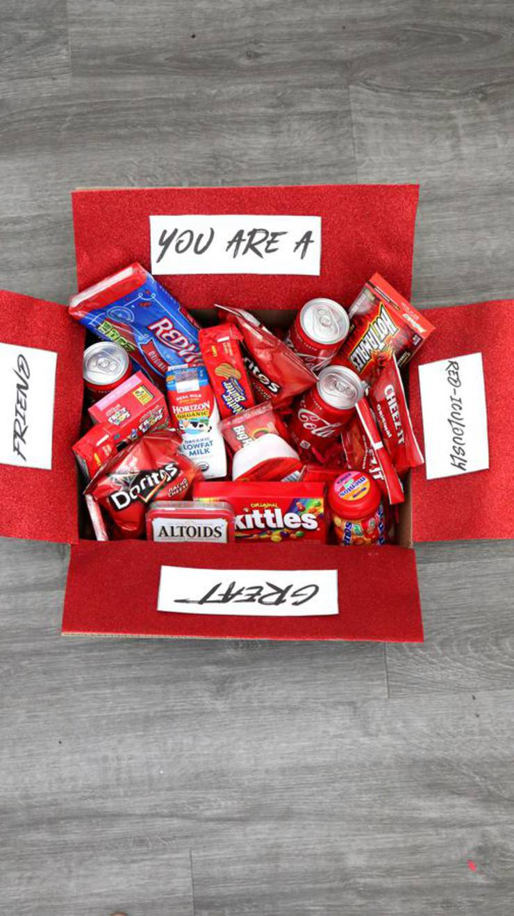Care Package - EASY DIY Care Package Ideas - Homemade Gift Box Presents - Boyfriend - Girlfriend- Best Friends - Creative - How To Make RED-iculously Gift Box Tutorial