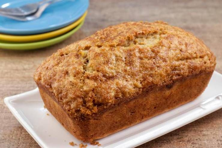 EASY Banana Bread - Quick and Simple Banana Bread Recipe - BEST Moist Loaf Bread - Breakfast - Desserts - Snacks