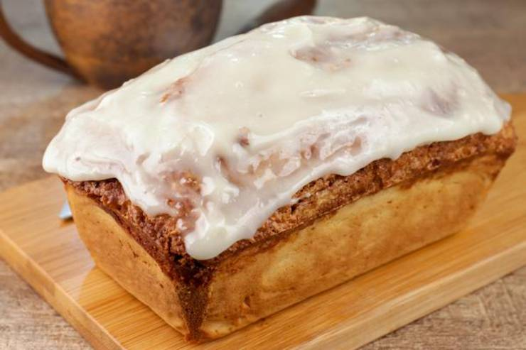 EASY Cinnamon Roll Bread – Quick and Simple Cinnamon Roll Bread Recipe – BEST Moist Loaf Bread – Yeastless - Breakfast – Desserts – Snacks
