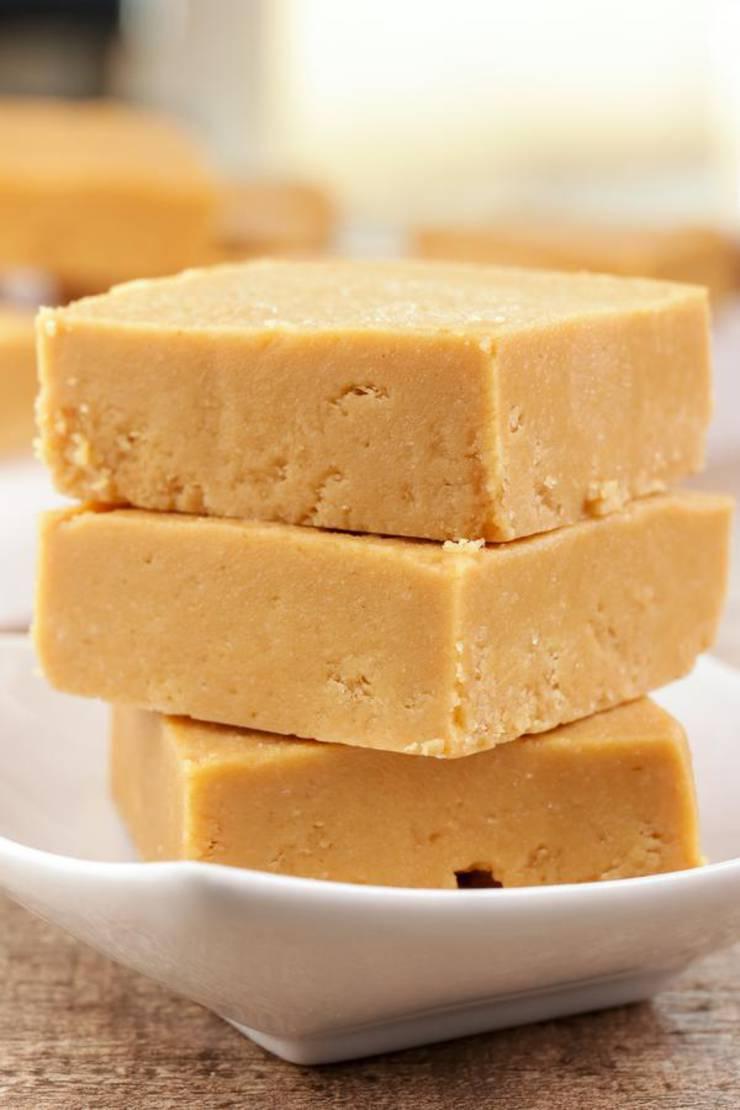 3 Ingredient Keto Peanut Butter Bars – BEST Peanut Butter Bar Recipe – {Easy – NO Bake} NO Sugar Low Carb Recipe - Desserts - Snacks