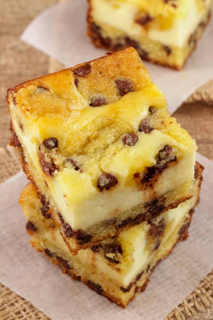 Keto Cheesecake – BEST Low Carb Keto Chocolate Chip Cheesecake Bars – Easy – Snacks – Desserts – Keto Friendly & Beginner