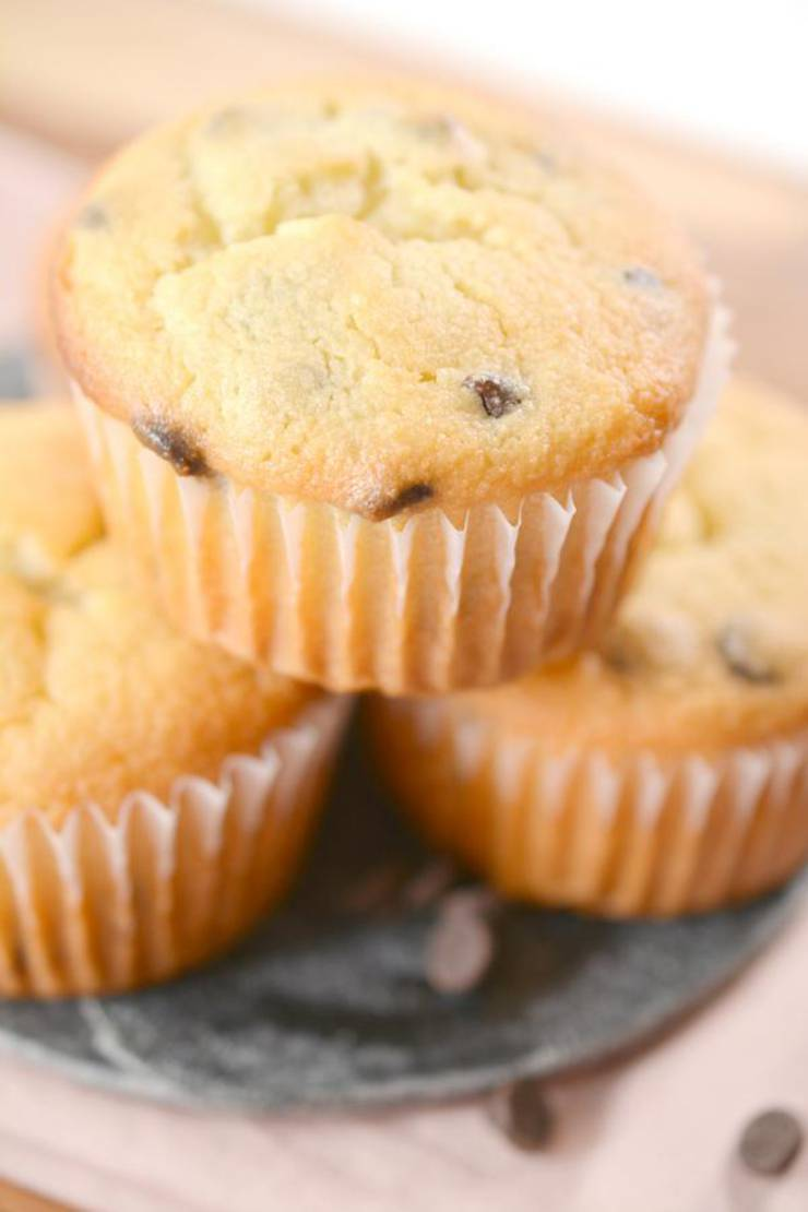 Keto Muffins – BEST Low Carb Keto Chocolate Chip Muffin Recipe – Easy – Desserts – Snacks – Breakfast - Sweets – Keto Friendly & Beginner