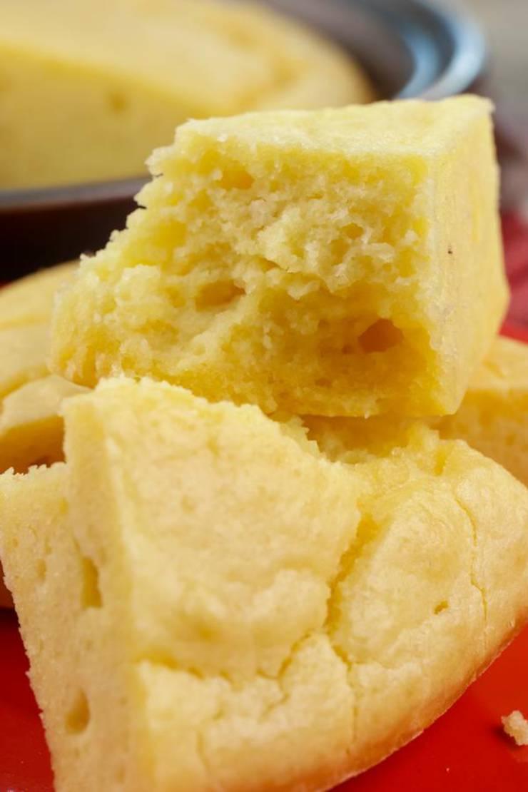 Keto Bread! BEST Low Carb Keto Cornbread Bread Idea – Quick & Easy Ketogenic Diet Recipe – Beginner Keto Friendly – Snacks – Side Dishes– Appetizers - Breakfast - Lunch - Dinner
