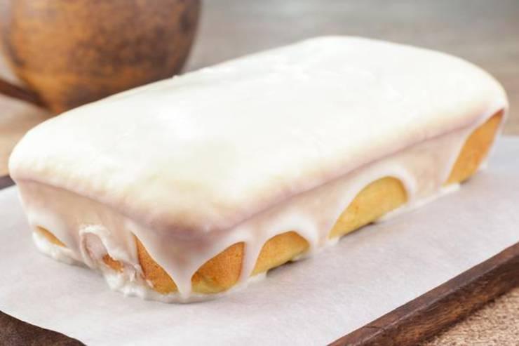 Keto Glazed Donut Loaf Bread
