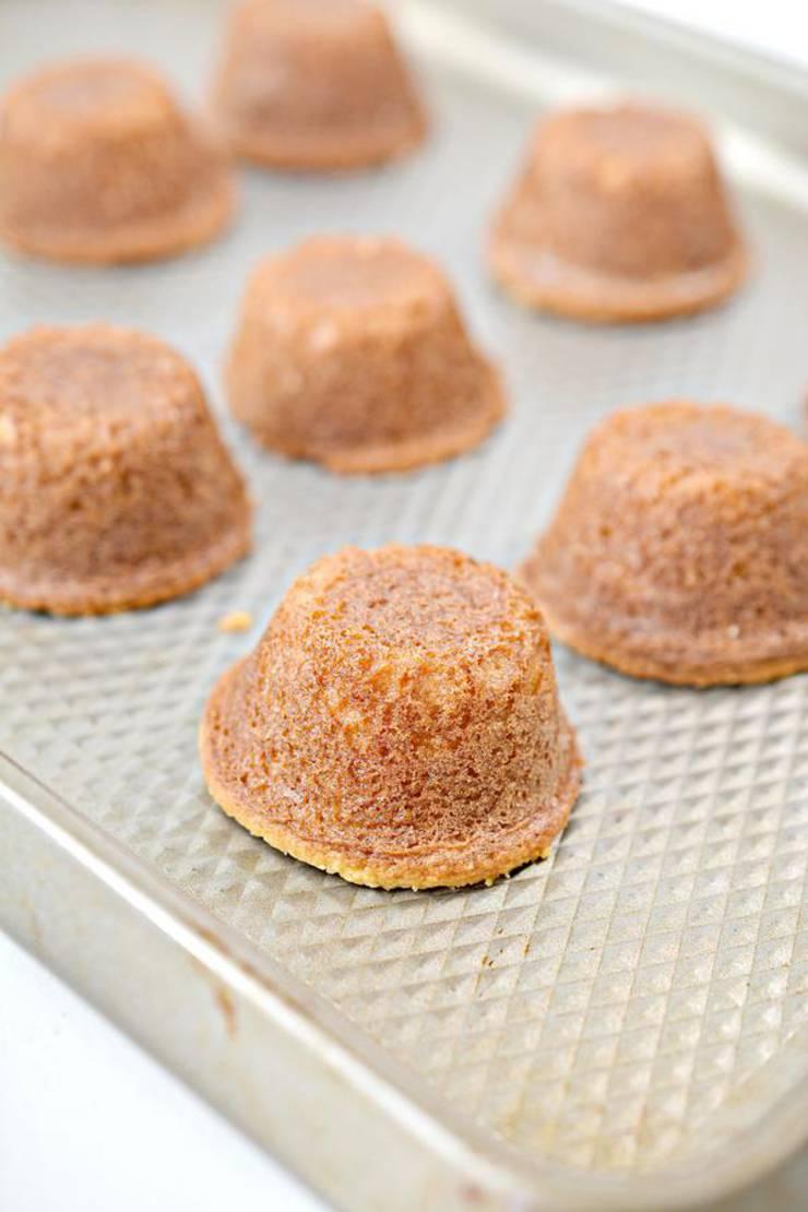 Keto Mini Lemon Drop Cakes