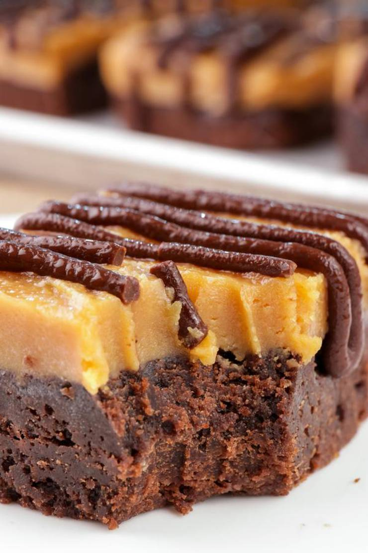 Keto Brownies – BEST Low Carb Keto Chocolate Peanut Butter Brownie Bars Recipe – Easy – Desserts – Snacks – Sweets – Keto Friendly & Beginner
