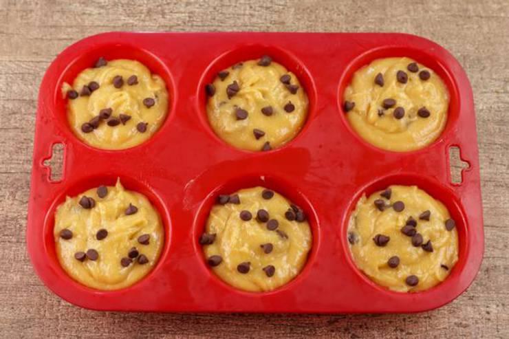 Keto Peanut Butter Chocolate Chip Muffins
