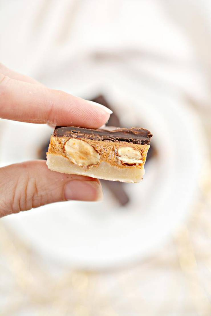 Low Carb Almond Snickers Candy Fat Bombs - Best Keto Recipe