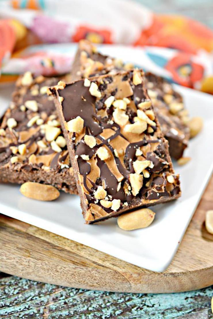 BEST Keto Snickers – Low Carb Keto Snickers Candy Cookie Bars Recipe – Quick and Easy Ketogenic Diet Idea - Snacks - Desserts - Treats