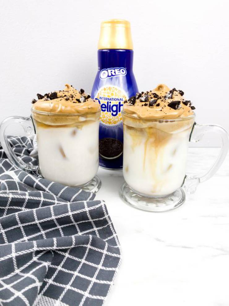 5 Ingredient Dalgona Coffee! Oreo Cookie Whipped Dalgona Coffee Idea – Quick Simple & Easy Recipe – How To Make Dalgona Coffee – Tik Tok Coffee