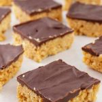 5 Ingredient Rice Krispies Treats – EASY - Quick - Simple Chocolate Peanut Butter Rice Krispies Recipe – BEST Homemade Rice Krispies - Simple - Quick – Desserts – Snacks - Party Food