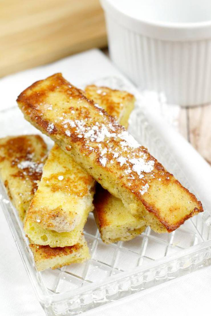 BEST Weight Watchers French Toast Sticks – Weight Watchers French Toast Recipe – 90 Second Microwave Bread For Easy Weight Watchers Diet French Toast