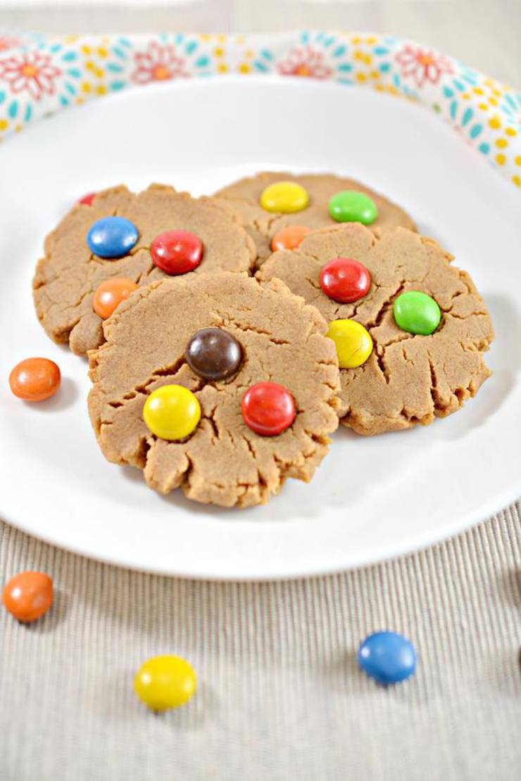 5 Ingredient Weight Watchers Cookies – BEST WW Peanut Butter M & M Candy Idea – BEST WW Recipe – Treat – Desserts – Snacks with Smart Points